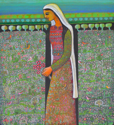 Nabil Anani, 'Woman in a Field', 2018