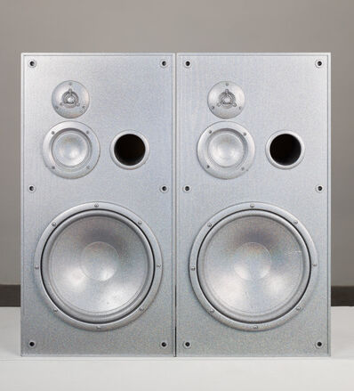 Sadie Barnette, 'Untitled (Medium Silver Speakers Set)', 2019