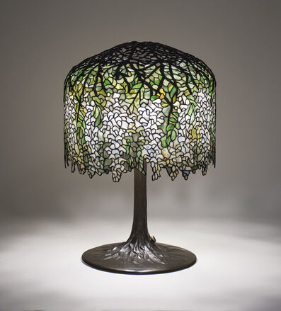 Tiffany Studios, 'Rare White 'Wisteria' Table Lamp', 1902-1903
