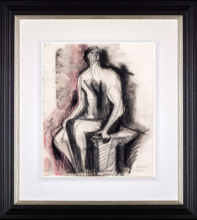 Henry Moore, 'Seated Figure on Bench'