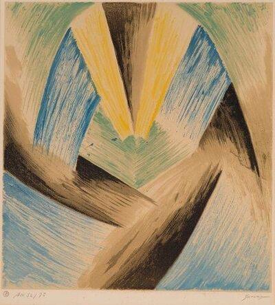 Leopold Survage, 'Colored Rhythms II', 1968