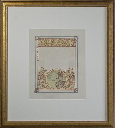 "Alphonse Mucha, 'From: Ilsée, Princess of Tripoli Recto: ""Watching the Horizon"" Verso: ""Jaufre's Illness""', 1897"