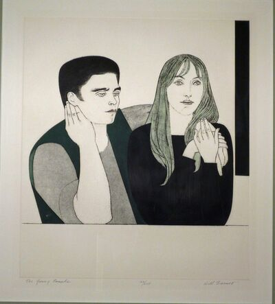 Will Barnet, 'YOUNG COUPLE', 1971