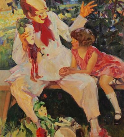 Haddon Sundblom, 'Clown and the Girl', 1928
