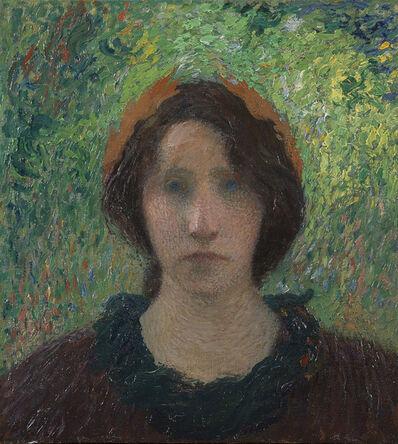 Henri Martin, 'Jeune femme laurée au chignon', 1895-1900