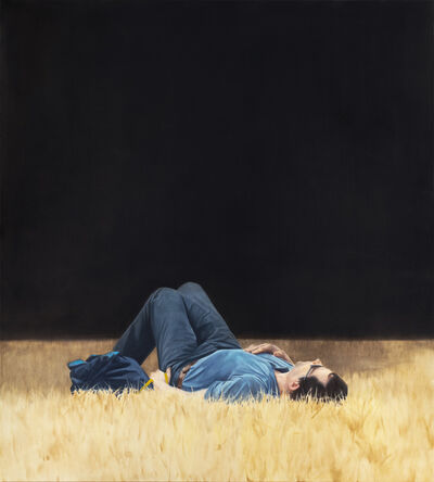 Tim Eitel, 'Man Lying in Grass', 2018