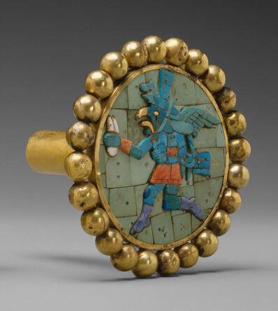 Unknown Moche, 'Ear Ornament, Winged Runner', 400–700
