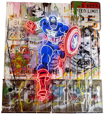 Mr. Brainwash, 'Captain America', 2021