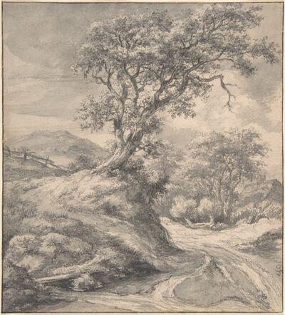 Jacob van Ruisdael, 'Dune Landscape with Oak Tree', 1650–1655