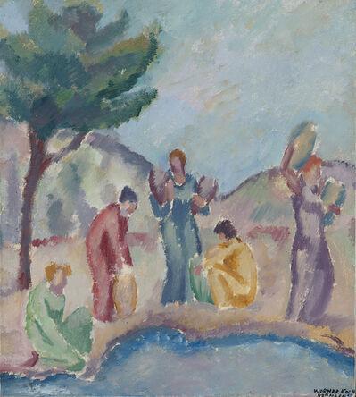 Werner Koch, 'Frauen an der Quelle', 1918