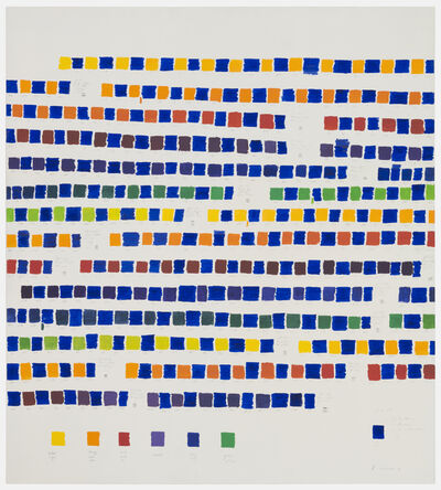Osvaldo Romberg, 'All the colors of the chromatic circle interpolated by blue', 1980