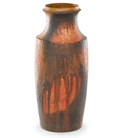 Marcello Fantoni, 'Floor vase with drip glaze, Italy', late 20th C.