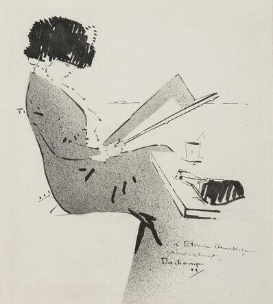 Marcel Duchamp, 'Jeune femme au café parisien', 1909