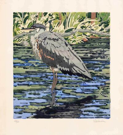 Neil G. Welliver, 'IMMATURE GREAT BLUE HERON', 1978