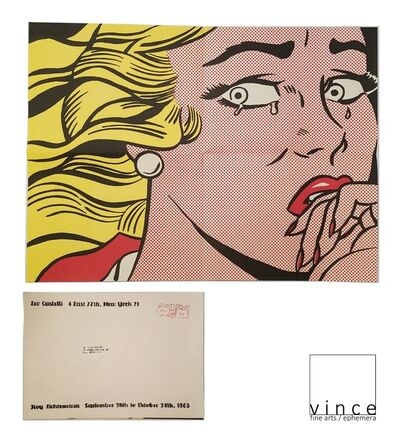 "Roy Lichtenstein, '""Crying Girl"", 1963, Exhibition Invitation/Poster, Leo Castelli Gallery NYC, Postmarked 10 Cents', 1963"