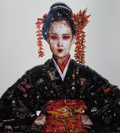 Virut Panchabuse, 'Kimono with Golden flowers', 2020