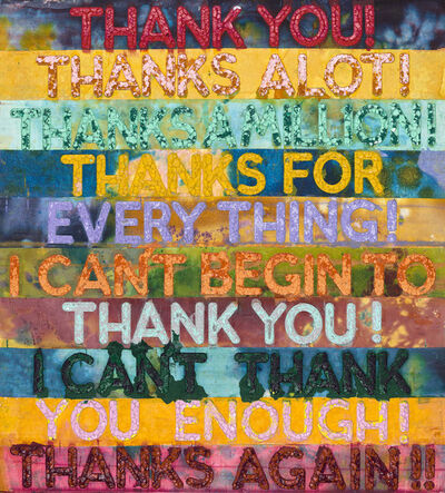 Mel Bochner, 'Thank You', 2018
