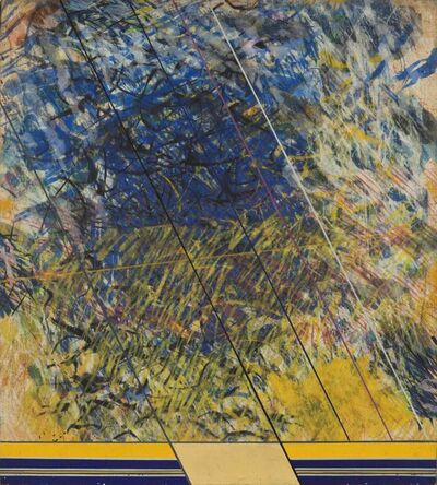 Sandro Martini, 'Pagina n. 81 - A spigolare nel fieno', 1970