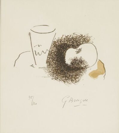 Georges Braque, 'The Glass and The Apple From Ten Works (Vallier 189)', 1963