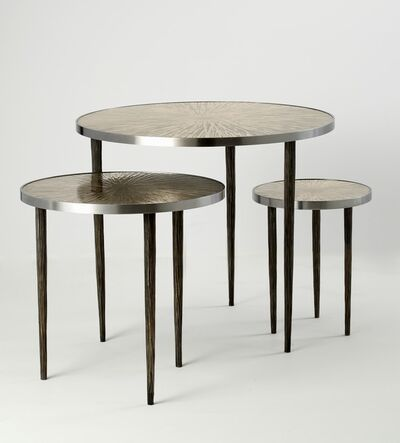Franck Chartrain, 'Astres: Set of Three Tables', 2014