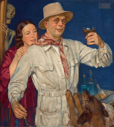 Albert Janesch, 'Self Portrait with the Artist's Wife', 1933