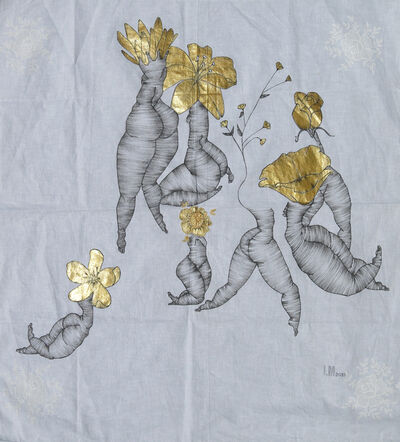 Laura Mega, 'Painting on fabric: 'Flowers'', 2018