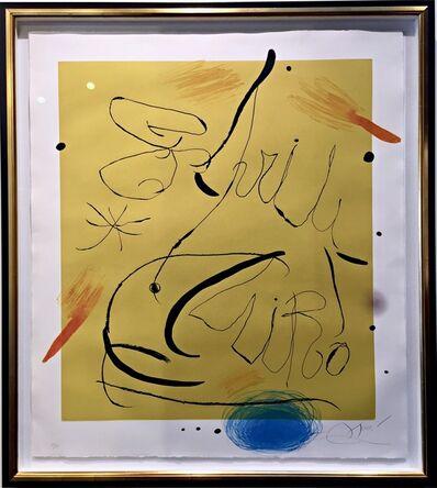 Joan Miró, 'Espriu', 1975