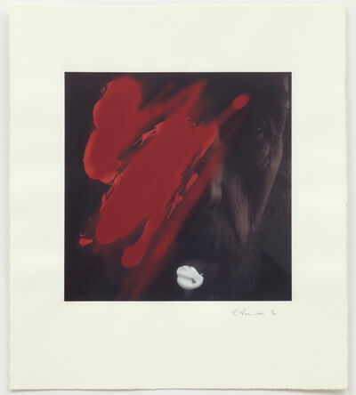 Richard Hamilton, 'Self-portrait with red', 1998