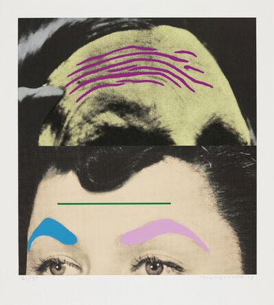 John Baldessari, 'Raised Eyebrows/Furrowed Foreheads: Two Foreheads (One Green)', 2009