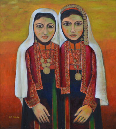 Nabil Anani, 'Palestinian Girls in Traditional Costume (1917)', 2011
