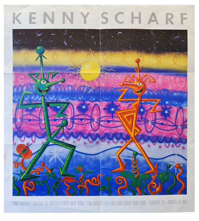 Kenny Scharf, 'Tony Shafrazi poster', 1985