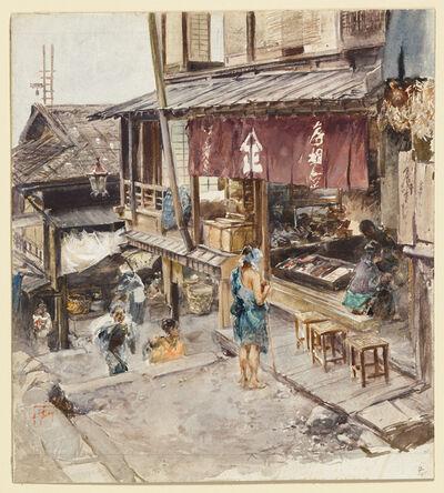 Robert Frederick Blum, 'A Street in Ikao, Japan, III', 1890