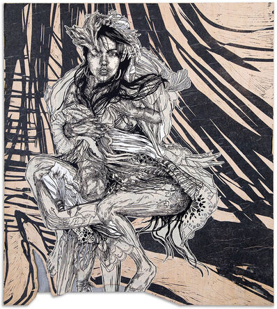 Swoon, 'Monica', 2016