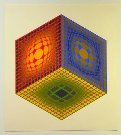 Victor Vasarely, 'Cube', ca. 1980