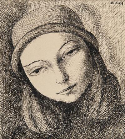 Moise Kisling, 'Jeune femme au chapeau', ca. 1925