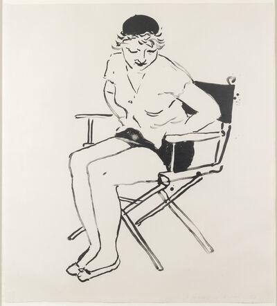 David Hockney, 'Celia in the Director's Chair', 1980