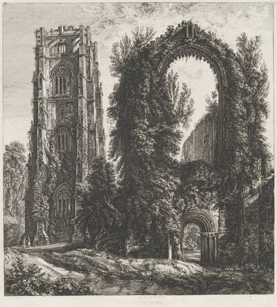 George Cuitt the Younger, 'Fountains', 1822