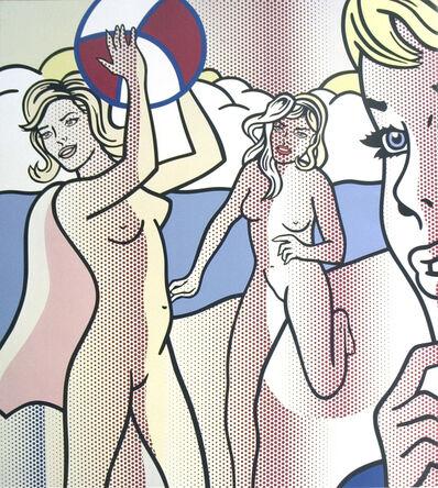 """Roy Lichtenstein, 'Roy Lichtenstein - Nudes with Beach Ball - 2007 Offset Lithograph 29.75"""" x 26.75""""', 2007"""