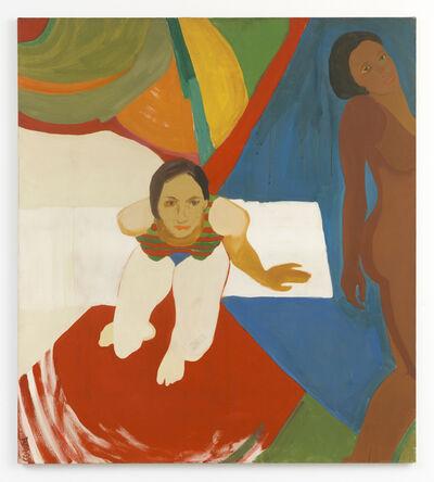 Emma Amos, 'Seated Figure and Nude', 1966
