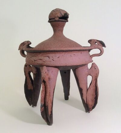 Ken Ferguson, 'Four Legged Lidded Vessel with Hare Handles', 2000