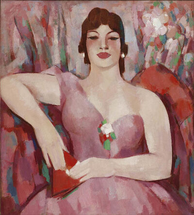 JD Fergusson, 'Martha in Pink', 1953