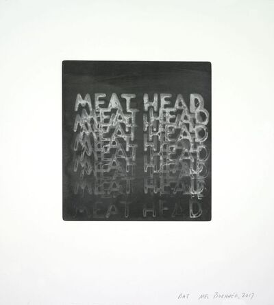 Mel Bochner, 'Meathead', 2017