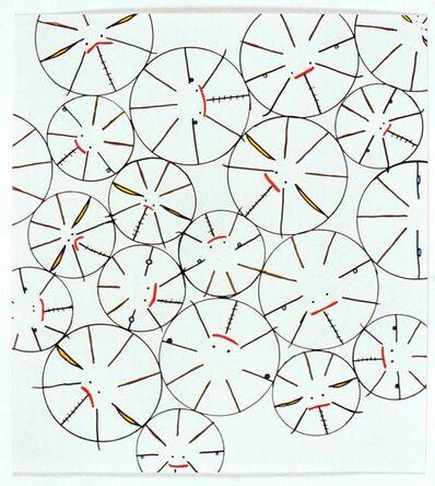Yoshitomo Nara, 'Untitled (Circular Faces)', 2002
