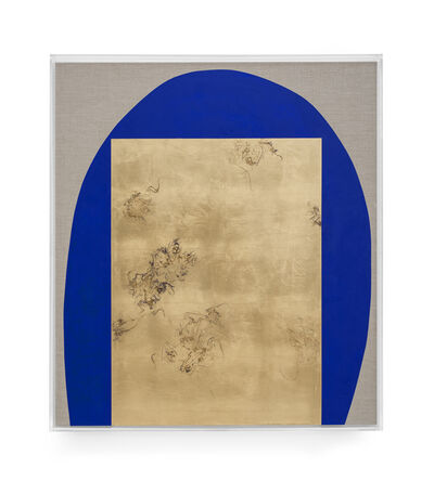 Pierre Vermeulen, 'Hair orchid sweat print, blue with grey', 2019
