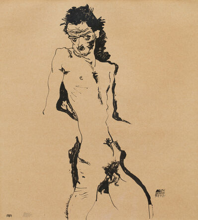 Egon Schiele, 'Male Nude (Self-Portrait) I', 1912