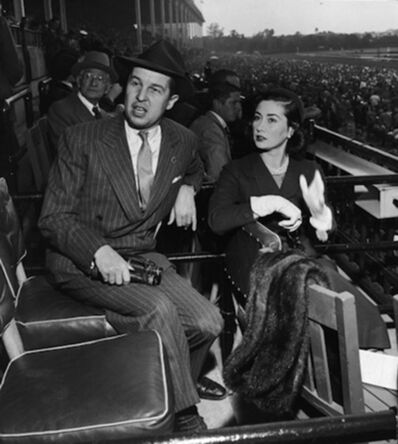 Slim Aarons, 'Alfred G. Vanderbilt Jr and his wife Jean Murray Vanderbilt at Belmont Park, New York', 1952