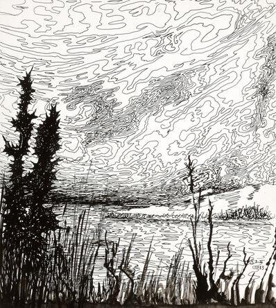 Alfred Czerny, 'Flusslandschaft (Waterscape) ', 1983