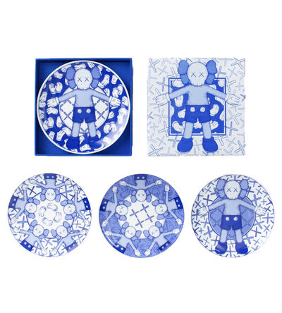 KAWS, 'KAWS: HOLIDAY Ceramic Plate Set (Blue/White) (Set of 4)', 2019