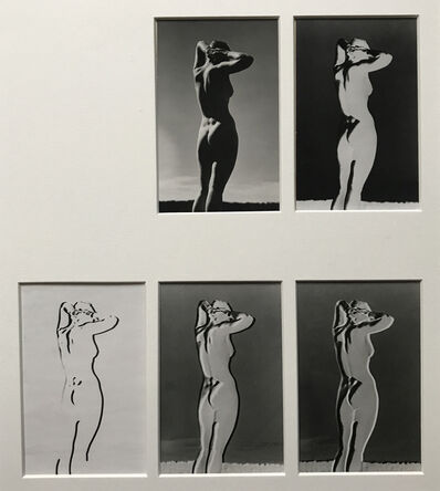 Andreas Feininger, 'Series of 5 variants of a nude study', 1937