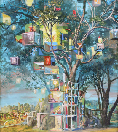 Julie Heffernan, 'Study for Self Portrait as Tree House', 2008-2012